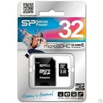 фото Карта памяти Silicon Power Micro SDHC 32 Gb Class 4+ adapt SP032GBSTH004V10